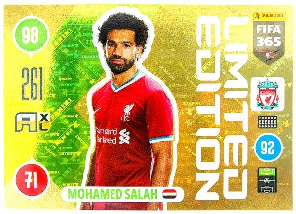 Panini FIFA 365 Adrenalyn XL 2021 Kollektion – LE-Card Mo Salah Vorne