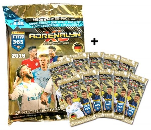 Panini FIFA 365 Adrenalyn XL 2019 Kollektion – Starter-Bundle 1