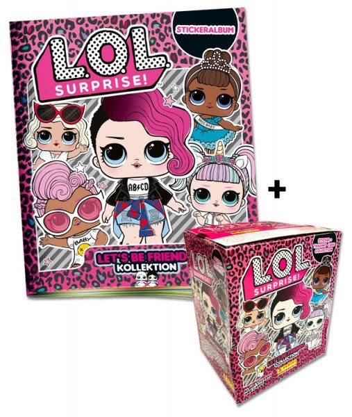 L.O.L. Surprise! Let's be Friends Sticker und Trading Cards 2019 - Box-Bundle Inhalt