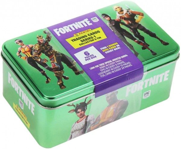 Fortnite Series 1 Trading Cards - Tin Box mit 6 Packs und 1 Epic Card als Bonus