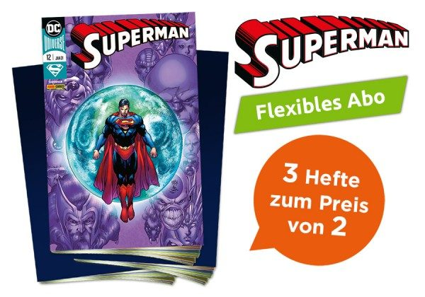 3 für 2 - Flexibles Abo - Superman Heft