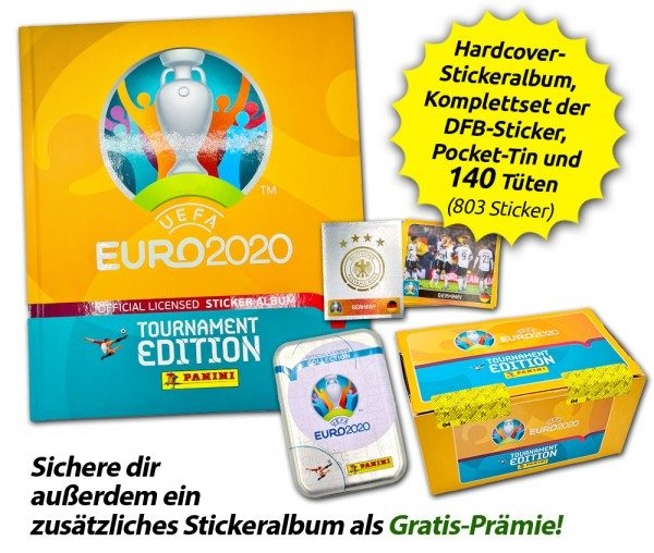 UEFA EURO 2020™ Tournament Edition - Offizielle Stickerkollektion - Hardcover Collector's Bundle
