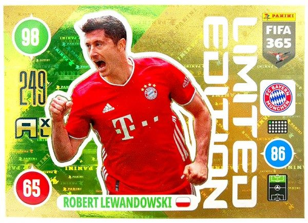 Panini FIFA 365 Adrenalyn XL 2021 Kollektion – LE-Card Robert Lewandowski Vorne