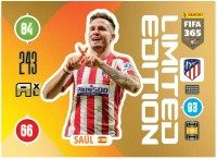 Panini FIFA 365 Adrenalyn XL 2021 Kollektion – LE-Card Saúl Vorne