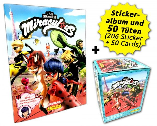 Miraculous Sticker und Trading Cards - Box-Bundle Inhalt