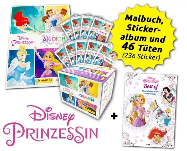 Disney Prinzessinnen-Bundle - Sticker und Malbuch