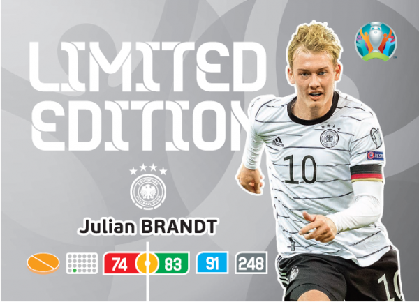 UEFA Euro 2020 Adrenalyn XL Limited Edition Card Julian Brandt
