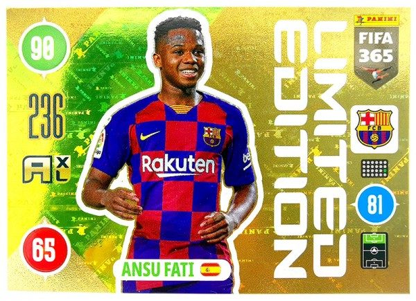 Panini FIFA 365 Adrenalyn XL 2021 Kollektion – LE-Card Ansu Fati Vorne