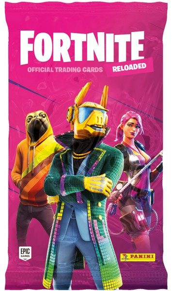 Fortnite Reloaded Trading Cards - Flowpack mit 8 Cards