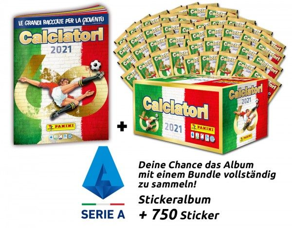 Panini Calciatori Serie A 2021 Stickerkollektion - Mega-Bundle