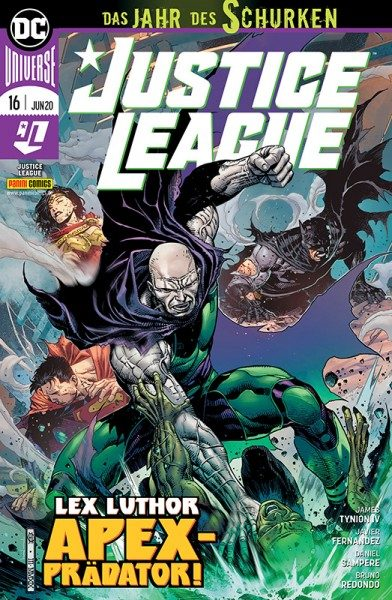 Justice League 16: Lex Luthor Apexprädator! Cover