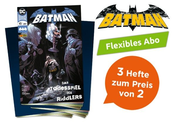 3 für 2 - Flexibles Abo - Batman Heft