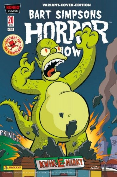 Bart Simpsons Horror Show 20 Variant - Comic Action 2016