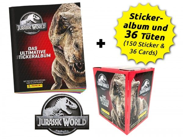 Jurassic World Anthology - Sticker und Cards - Box-Bundle Inhalt Box und Album