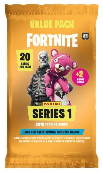 Fortnite Series 1 Trading Cards - Fatpack gelb Value Pack