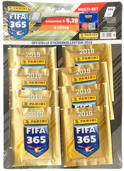 Panini FIFA 365 2019 Stickerkollektion – Multipack