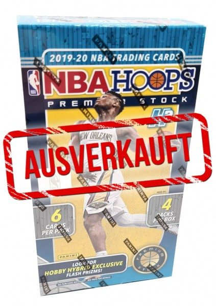 NBA 2019/20 Hoops Premium Stock Trading Cards - Hobby-Hybrid-Box