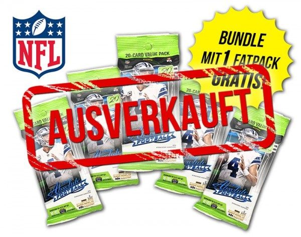 NFL 2020 Absolute Football Trading Cards - Fatpack Bundle - ausverkauft