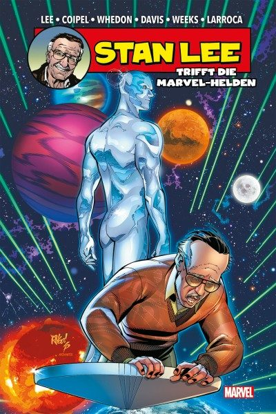 Stan Lee trifft die Marvel-Helden Cover