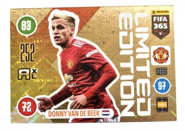 Panini FIFA 365 AXL 2021 Update Collection – LE-Card Donny van de Beek