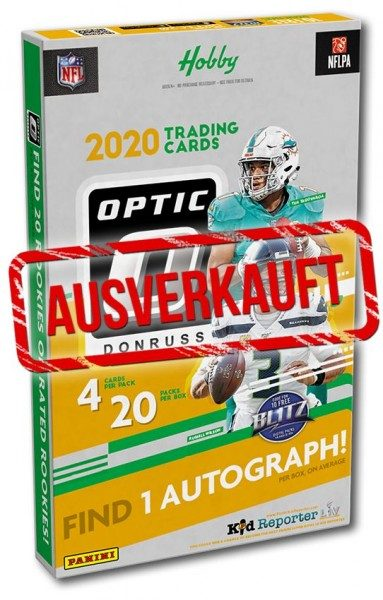 NFL 2020 Donruss Optic Football Trading Cards- Hobbybox - ausverkauft