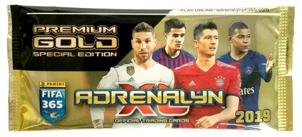 Panini FIFA 365 Adrenalyn XL 2019 Kollektion – Premium Gold-Tüte