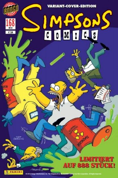 Simpsons Comics 168 Variant