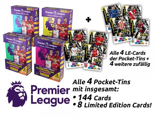 Panini Premier League Adrenalyn XL 2020/21 Kollektion – Pocket-Tin-Bundle
