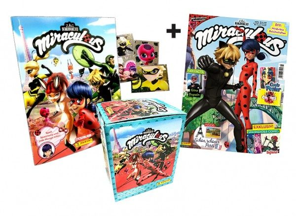 Miraculous Fan-Paket mit Stickern, Cards und Magazin