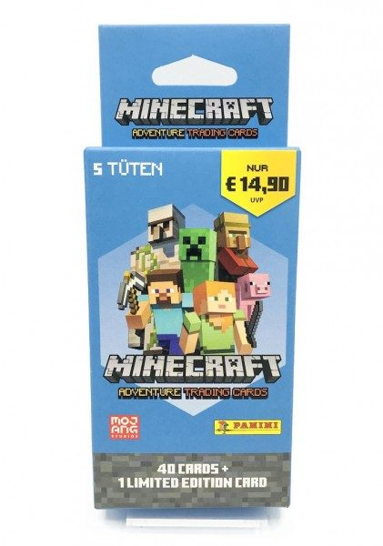Minecraft Trading Cards - Eco-Blister mit 5 Packs + 1 LE Card Front