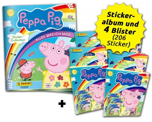 Peppa Pig: Alles, was ich mag Stickerkollektion - Blister-Bundle Inhalt