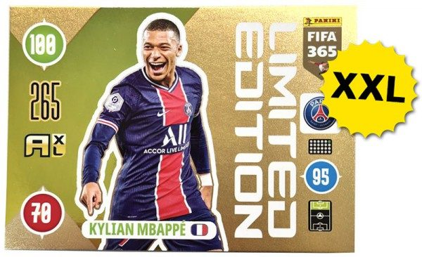 Panini FIFA 365 AXL 2021 Update Collection – XXL LE-Card Kylian Mbappe