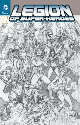 Legion of Super-Heroes 1 Comic Action 2012 Variant