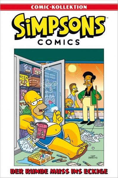 Simpsons Comic-Kollektion 8: Das Runde muss ins Eckige Cover
