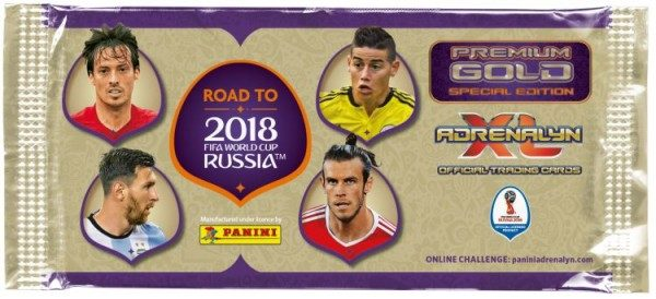 Road To FIFA World Cup Russia 2018 Adrenalyn XL - Gold Premium Tüte