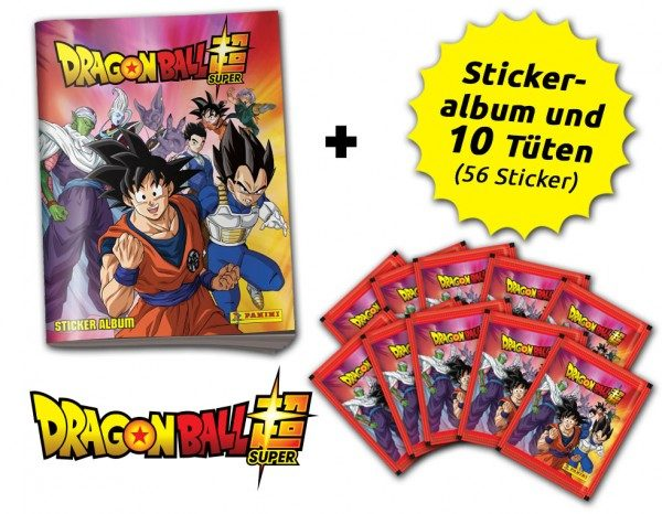 Dragon Ball Super Stickerkollektion  - Schnupperbundle mit 10 Tüten