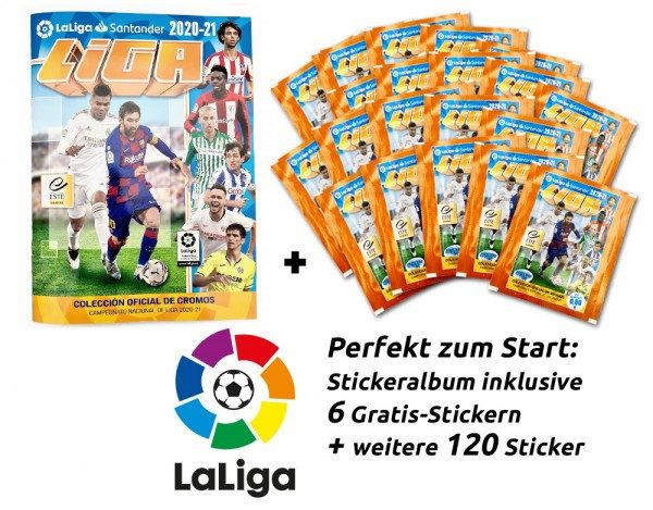 Panini La Liga 2020/21 Stickerkollektion - Starter-Bundle