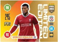 Panini FIFA 365 Adrenalyn XL 2021 Kollektion – LE-Card Georginio Wijnaldum Vorne