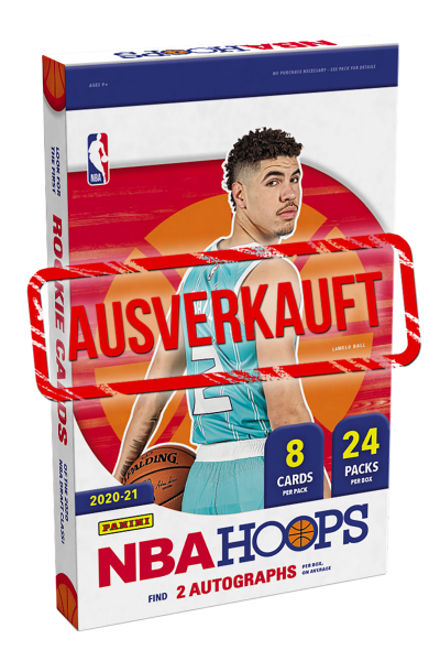 NBA Hoops 2020/21 Basketball Trading Cards - Hobbybox - ausverkauft