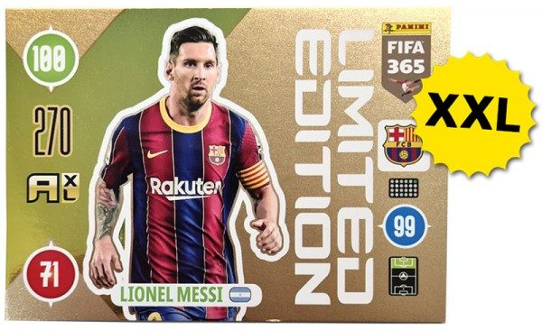 Panini FIFA 365 AXL 2021 Update Collection – XXL LE-Card Lionel Messi