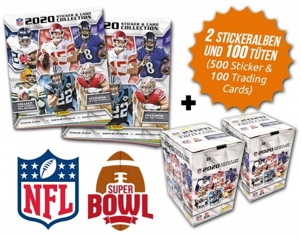 NFL 2020 Sticker & Trading Cards - Super Bowl Double-Bundle
