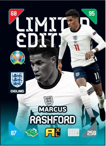 UEFA EURO 2020™ Adrenalyn XL™ 2021 Kick Off – LE Card – Marcus Rashford (England)