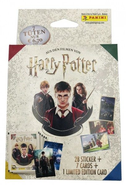 Harry Potter- Sticker und Cards - Blister mit 7 Tüten