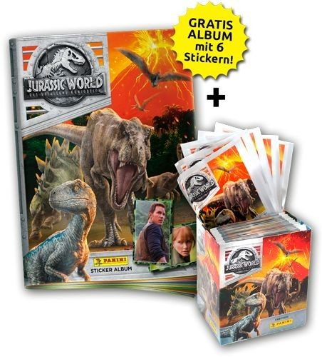 Jurassic World Movie Stickerkollektion - Sticker-Starter- Bundle 1
