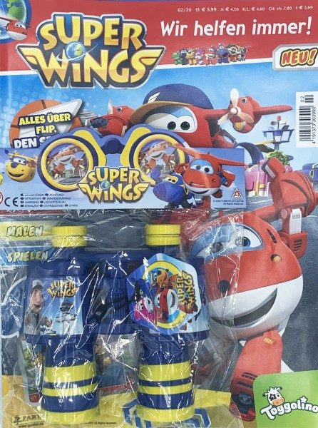 Super Wings Magazin 02/20 Cover mit Extra Fernglas