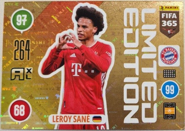 Panini FIFA 365 AXL 2021 Update Collection - LE-Card Leroy Sane