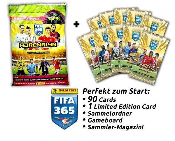Panini FIFA 365 Adrenalyn XL 2021 Kollektion – Starter-Bundle