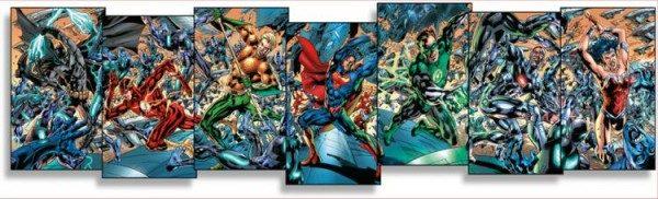 Justice League of America 1 - Panorama Variant-Collection - Comic Salon Erlangen 2016