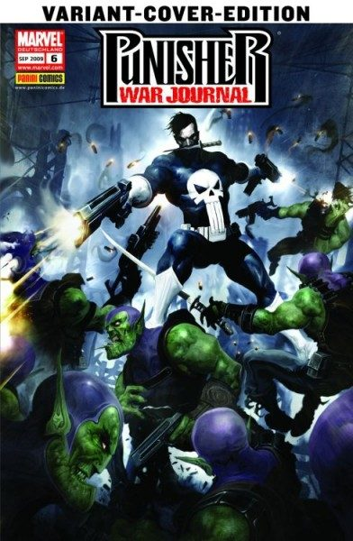 Punisher War Journal 6 Comic Action 2009 Variant