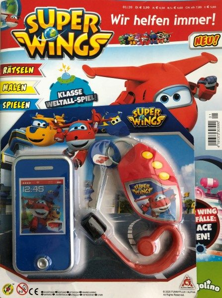 Super Wings Magazin 01/20 Cover mit Extra